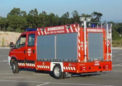 Camions pompiers équipé rideau sur mesure
