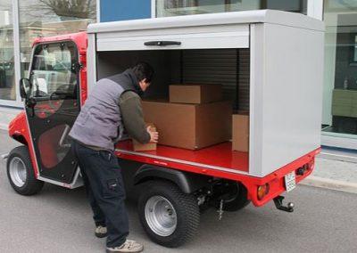 véhicule électrique avec barre de fermeture T2 double poignée