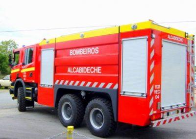 Camion sapeurs pompier avec rideau SRS