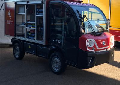 Camion Magirus avec rideaux sur mesure