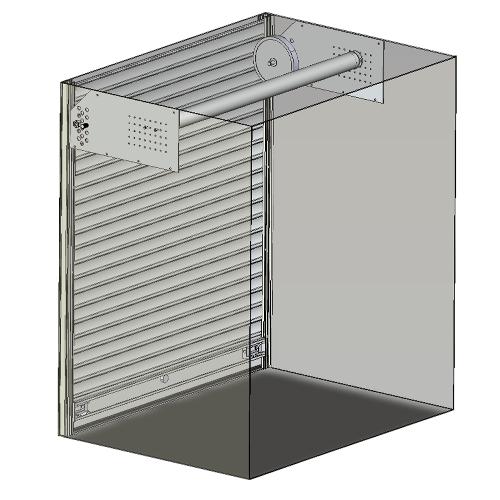 Système enroulement rideau aluminium industriel