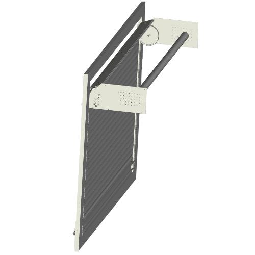 Système enroulement rideau aluminium pour véhicule