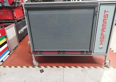 Caisse de transport avec rideaux aluminium
