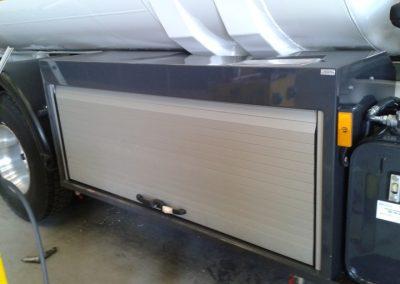 Caisson de camion citerne avec rideaux aluminium