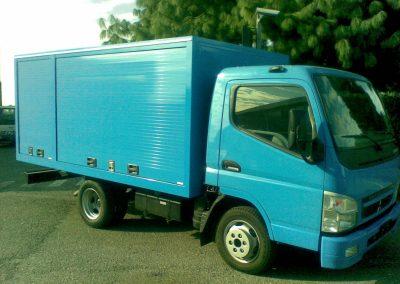 Camion livraison rideau alu