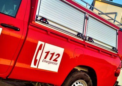 Pick up sapeurs pompiers avec rideaux sur mesures