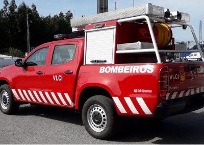 pick up de sapeurs-pompier avec rideaux alu TOP