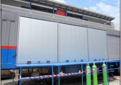 Remorque industrielle poids lourd avec rideaux aluminium