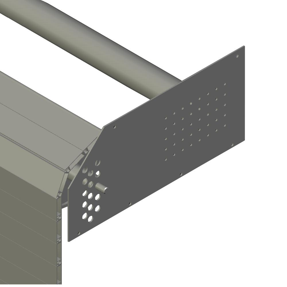 Rideaux aluminium pour fermeture de grandes dimensions